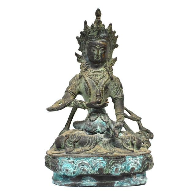 Bronze Tibetan Couple Statue Vajrasattva Yab Yum Early 19th Century For Sale - Image 10 of 13