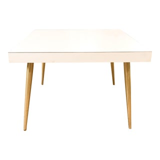 Mid Century Pencil Leg White Side Table