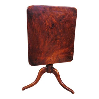 Early 19th Century Miniature Mahogany Tilt-Top Table For Sale