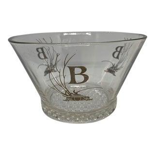 1960s Mid-Century Ice Bucket Monogram B in Platinum For Sale
