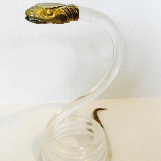 Alessandro Albrizzi Alessandro Albrizzi Coiled Lucite Snake For Sale - Image 4 of 6