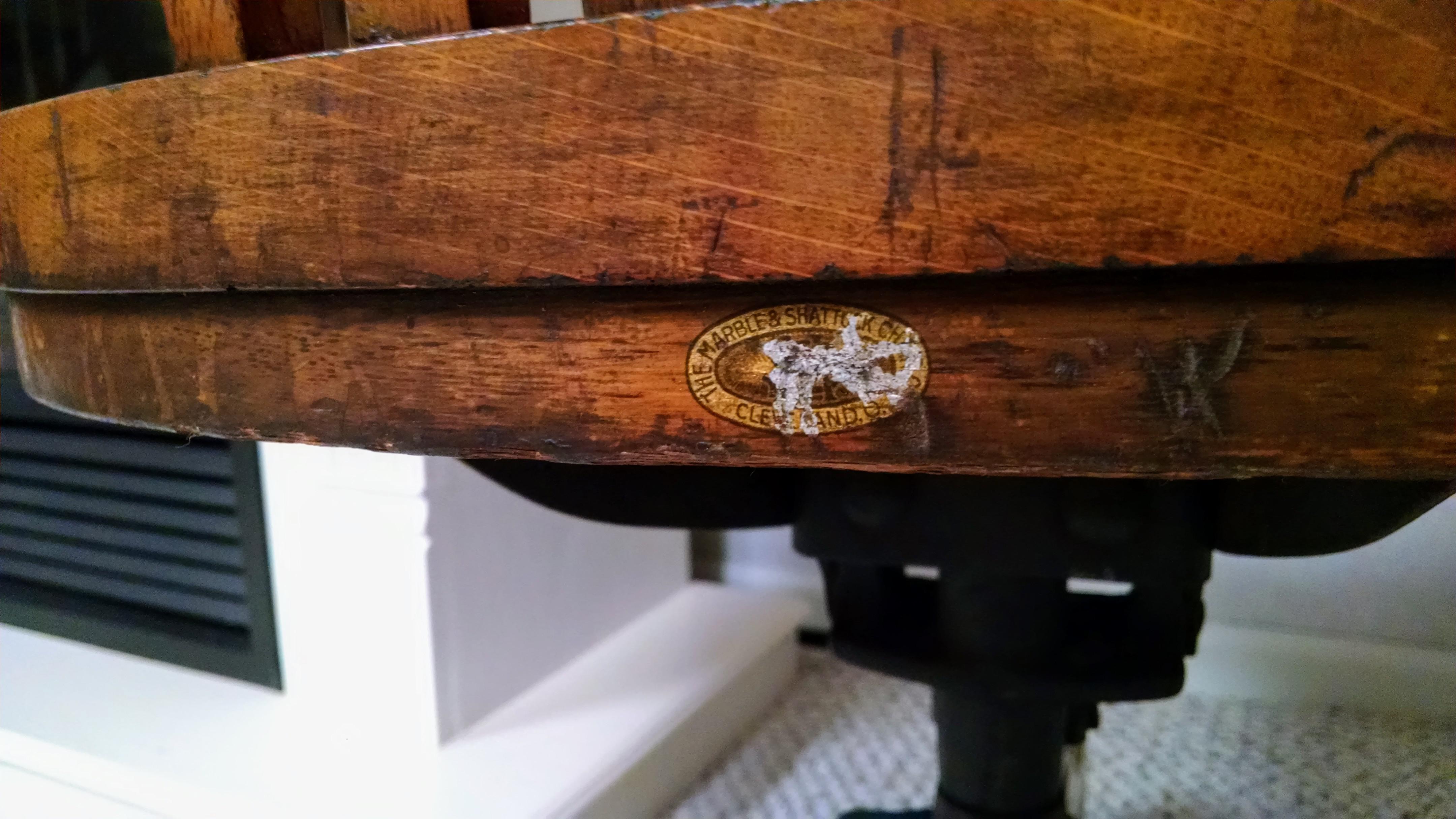 Marble U0026 Shattuck Oak Barrel Back Swivel Chair   Image 6 ...