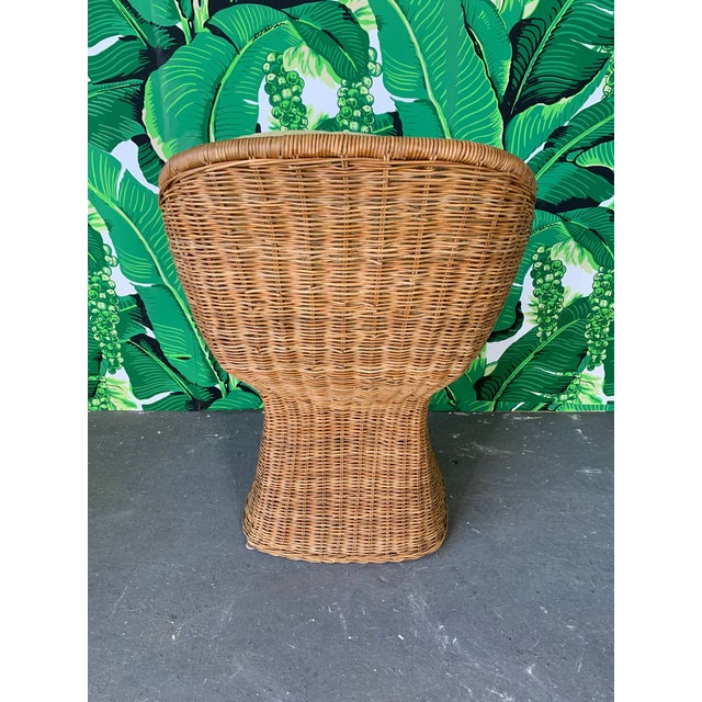 Sculptural Wicker Dining Set, Table and Four Chairs For Sale - Image 6 of 10