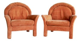 Image of Velvet Bergere Chairs