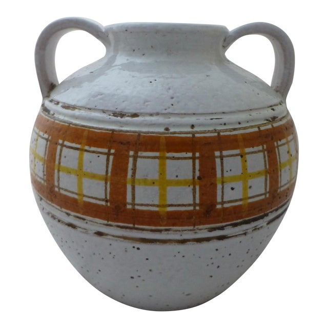 Mid-Century Modern Italian Art Pottery Vase For Sale