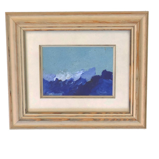 """Abstract Yjr Acrylic on Paper Framed Landscape 11"""" by 13"""" For Sale - Image 3 of 5"""