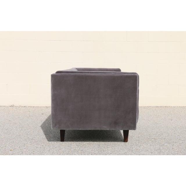 Modern Velvet Tufted Sofa - Image 7 of 10
