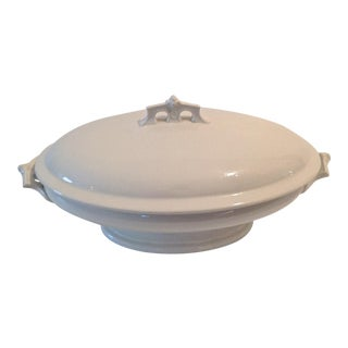19th Century English Ironstone Oval Covered Tureen For Sale