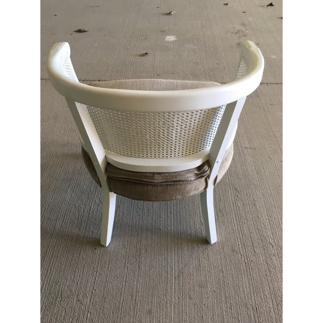 Cottage French Country Barrel Back Caned Chairs – Pair For Sale - Image 3 of 9