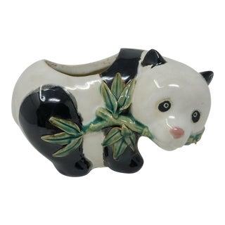 Vintage Handmade Porcelain Polar Bear Planter For Sale