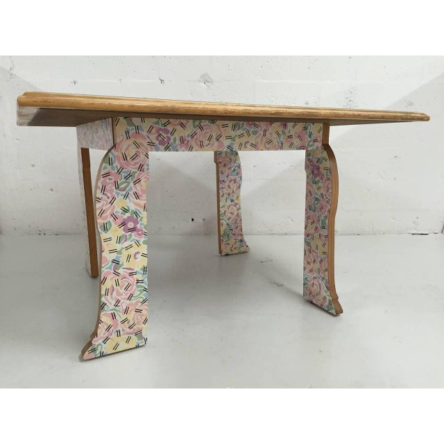 """Mid-Century Modern Robert Venturi """"Cabriole Leg"""" Table for Knoll For Sale - Image 3 of 8"""