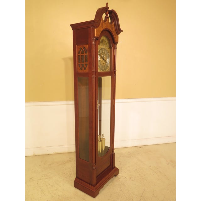 Seth Thomas Clock Company Seth Thomas Cherry Tall Case Grandfather Clock For Sale - Image 4 of 11