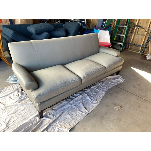 Wood Baker Contemporary Rolled Arm Sofa For Sale - Image 7 of 7