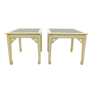 Vintage Mid-Century Ming Style Side Tables - A Pair For Sale