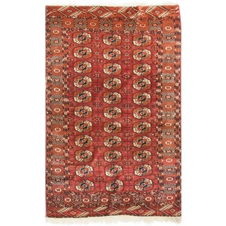 Early 20th Century Antique Tekke Bokahra Rug - 3′7″ × 5′8″ For Sale