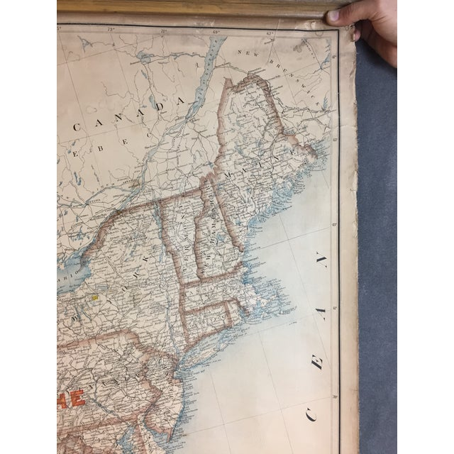 Linen 1900 Antique Department of the Interior USA & Territories Wall Map For Sale - Image 7 of 11