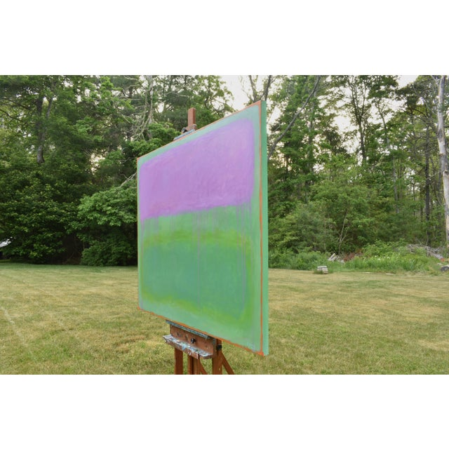 """Green Contemporary Abstract Painting """"Weeping Cherry"""" by Stephen Remick For Sale - Image 8 of 13"""