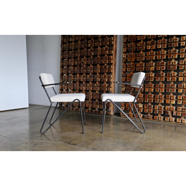 Black George Kasparian Dining Chairs, Circa 1950 For Sale - Image 8 of 11