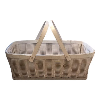 Antique White Baby Basket