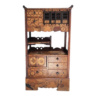 Late 19th Century Japanese Marquetry Cabinet