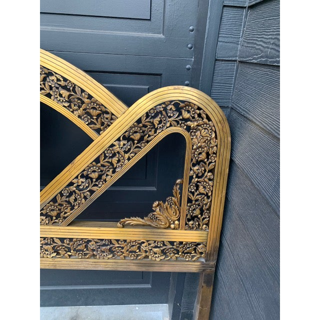 Art Deco French Art Deco Brass Bed in Full For Sale - Image 3 of 8