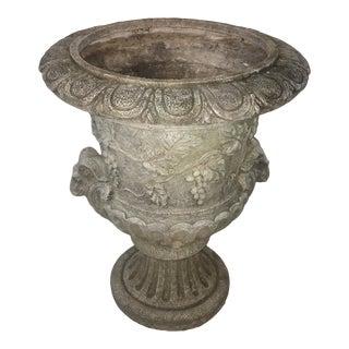 1970s Vintage Fiberglass Ram's Head Ornate Urn For Sale