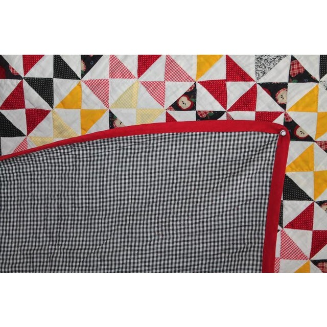 Vibrant Mini-Peiced Hour Glass Crib Quilt For Sale In Los Angeles - Image 6 of 7