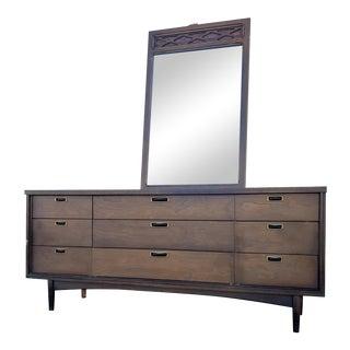 1960s Mid Century Lowboy & Mirror For Sale