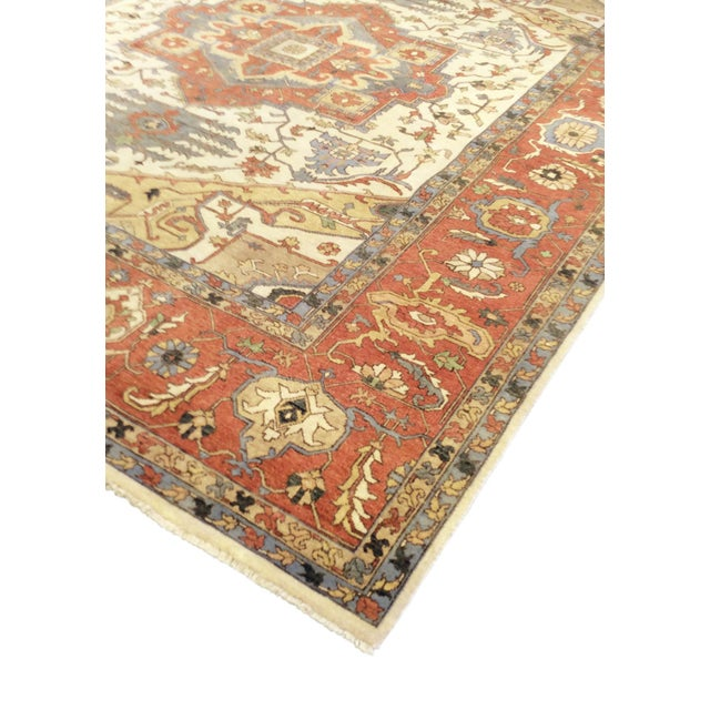 Pasargad's serapi collection is a collection of traditional rugs with updated colors and styling. These rugs are hand...