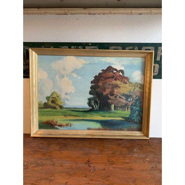 Early 20th Century Autumn Plein Air Painting For Sale - Image 5 of 5