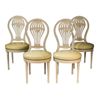 Vintage Maison Jansen Hollywood Regency Ballon Back Chairs – Set of Four