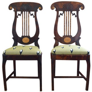 Pair of Russian Empire Side Chairs For Sale