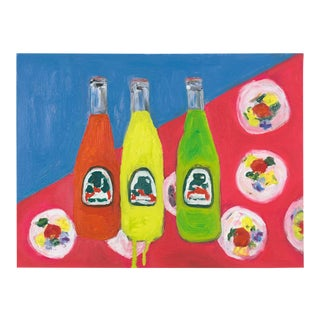 """3 Sodas"" Oil Painting For Sale"