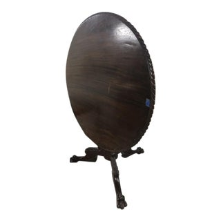 Antique 19th Century Victorian Tilt Top Ball and Claw Footed Parlor Table For Sale