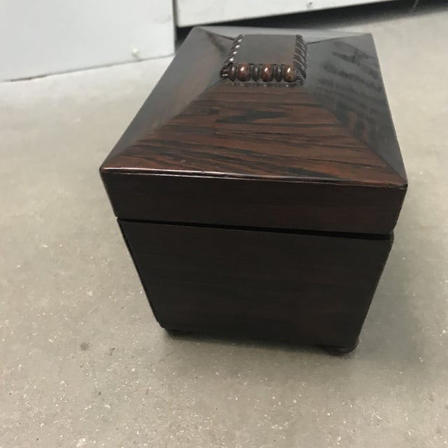 Rosewood Antique Rosewood Double Caddy Box For Sale - Image 7 of 10