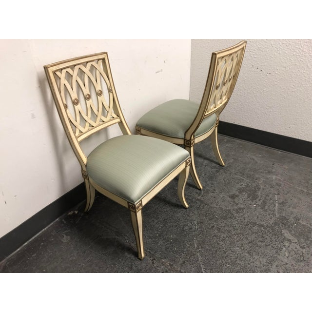Maitland - Smith Horchow Maitland-Smith Pillar Chairs - a Pair For Sale - Image 4 of 13