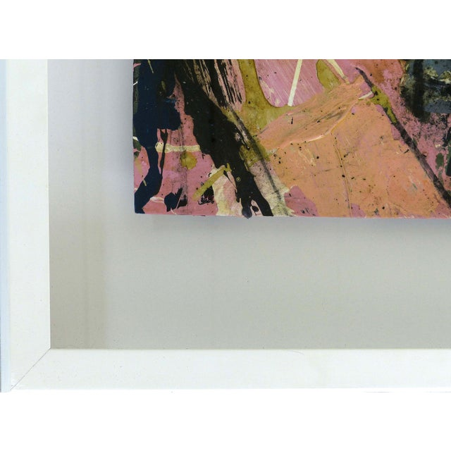 Pink Abstract Mixed-Media Painting by William Phelps Montgomery 'Stitch in Time' For Sale - Image 8 of 10