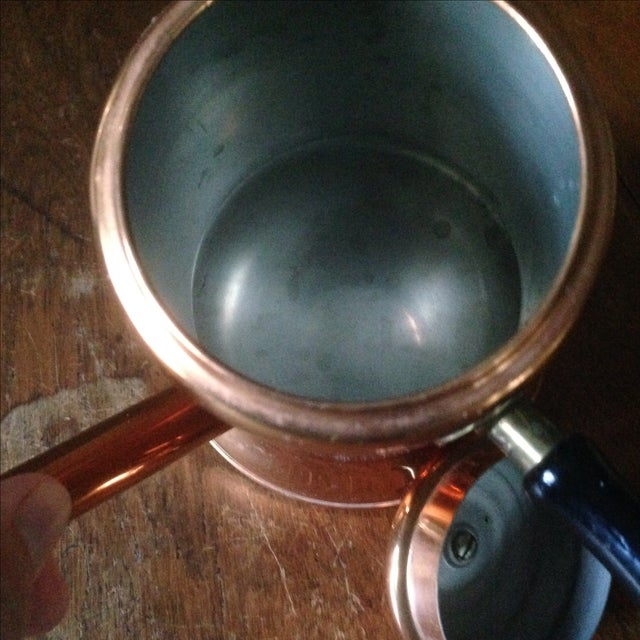 Copper Vintage Side Handle Copper Coffee Pot For Sale - Image 8 of 11