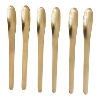 Vintage Arne Jacobsen for A. Michelsen Mid Century Modern Demitasse Spoons - Set of 6 For Sale