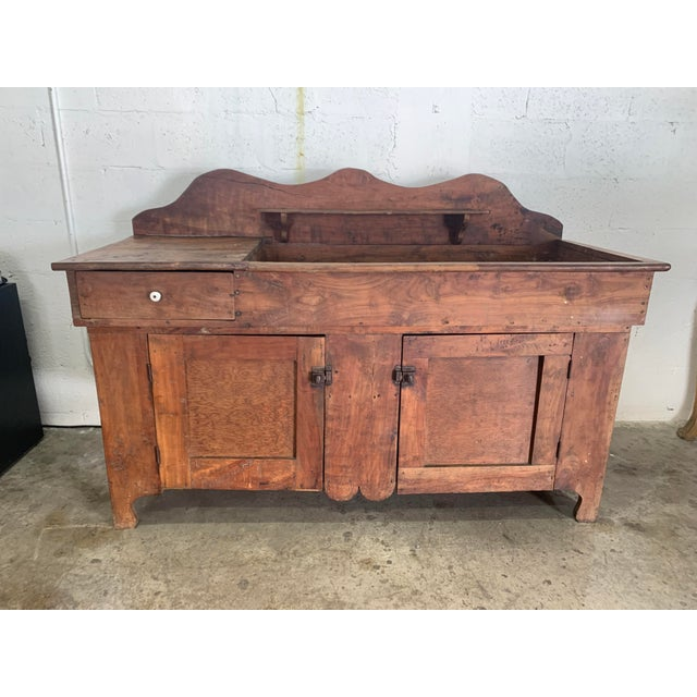 Farmhouse Antique Rustic Farmhouse Dry Sink For Sale - Image 3 of 9