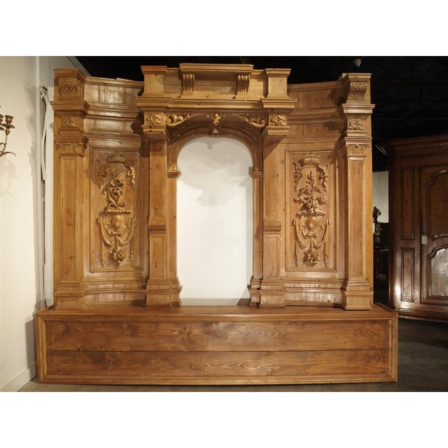This beautiful section of boiserie has been carved from softwood in the 17th century (upper section pieces only). It has...