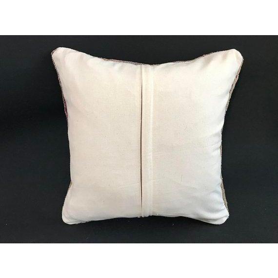 1960s Art Nouveau Handwoven Oushak Wool Pillow Case For Sale - Image 4 of 10