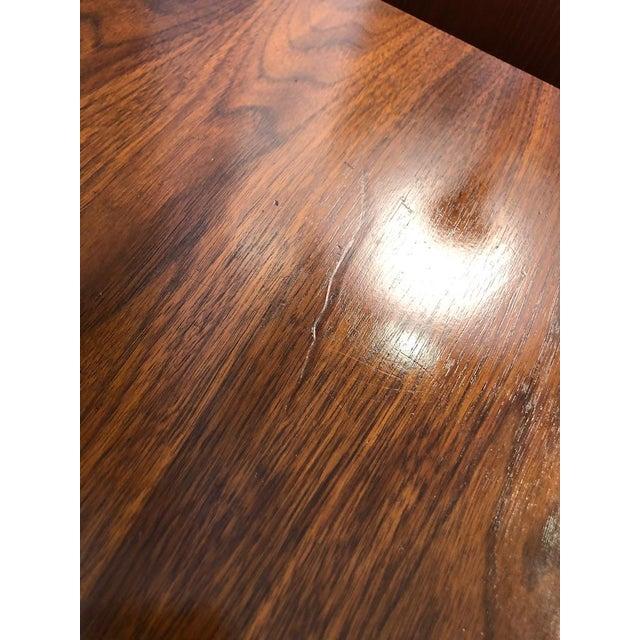 Wood Mid Century Walnut Credenza Style Lowboy Dresser 1960's For Sale - Image 7 of 13