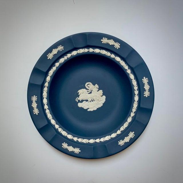 Ceramic 1970s Wedgwood Portland Blue Jasperware Executive Ashtray For Sale - Image 7 of 7
