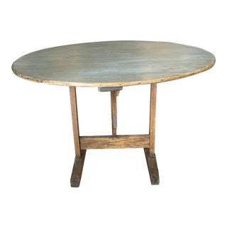 19th Century French Wine Tasting Tilt Top Table For Sale