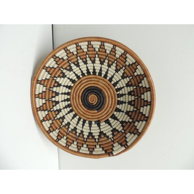 Vintage Round African Basket - Image 2 of 4