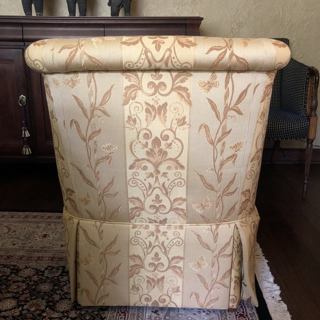 Beautiful, plush & comfortable skirted slipper chair by Pearson. Like new condition.