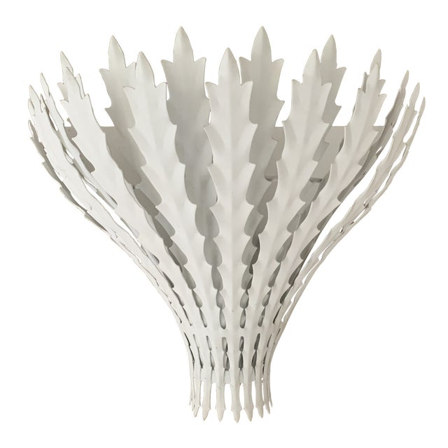 Visual Comfort White Hampton Wall Sconce For Sale