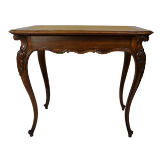 19th-Century French Rosewood Work Table For Sale