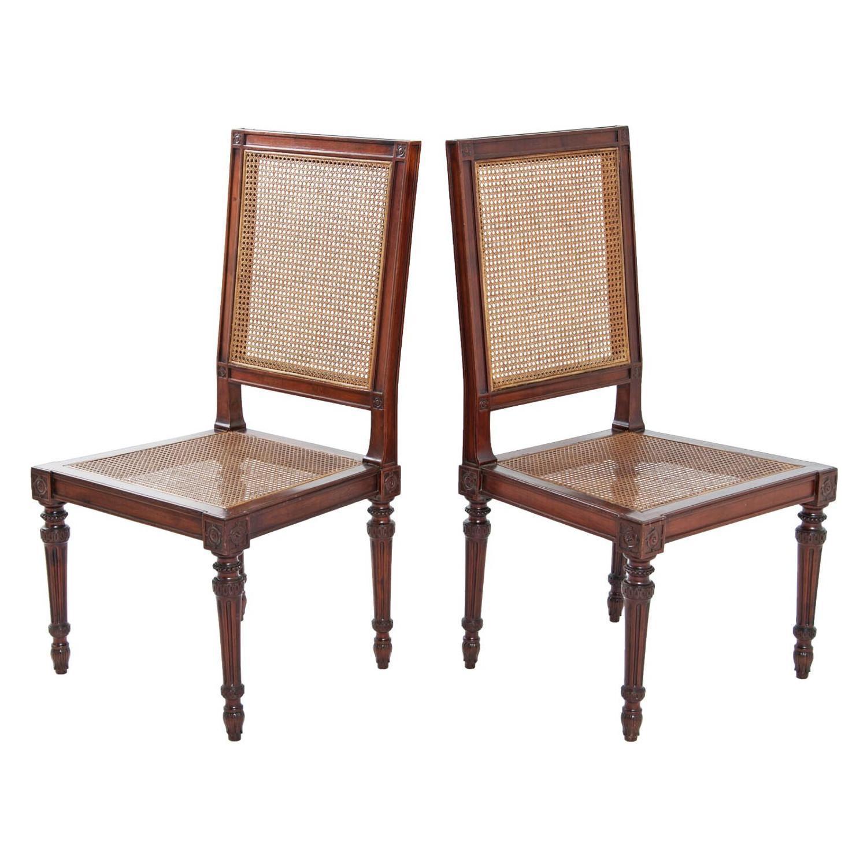 Italian Fruitwood Louis XVI Side Chairs   A Pair